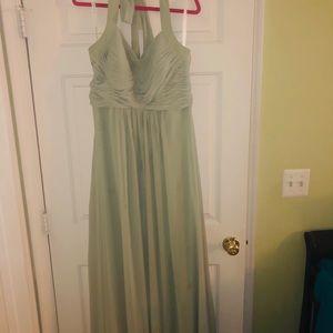Azazie Bridesmaid Dress Size 14 in Jade Green